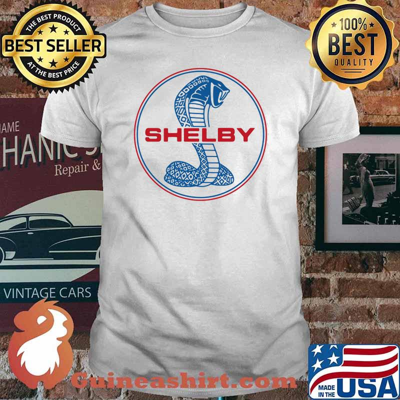 Mustang Shelby Blue And Red Logo Shirt