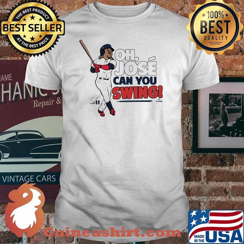 Official José Ramirez Mlbpa Can You Swing Shirt