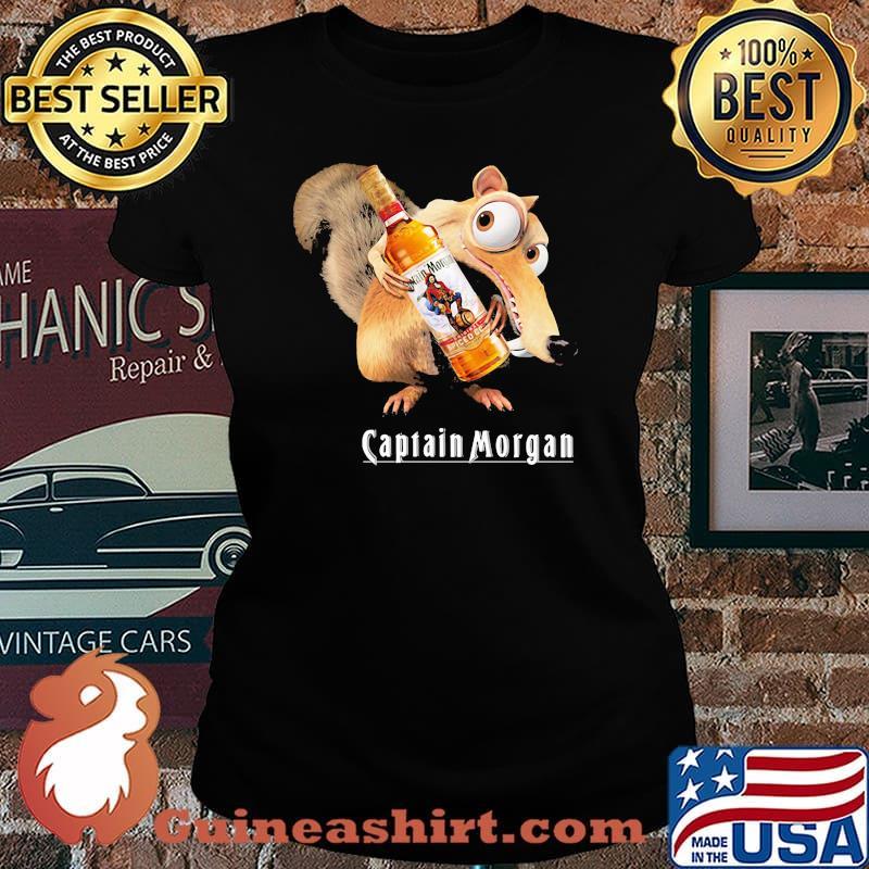 Scrat Do Chris Wedge Holding Captain Morgan Logo Shirt Laides tee