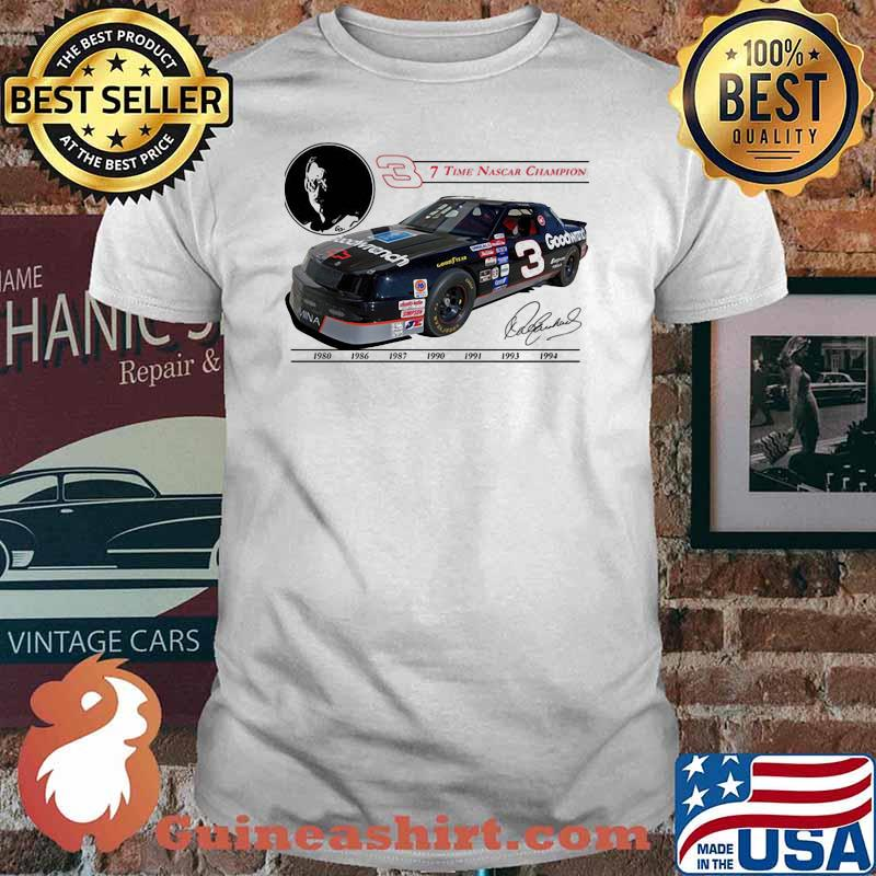Seven Time Nascar Champion Goodwrench Signature Shirt