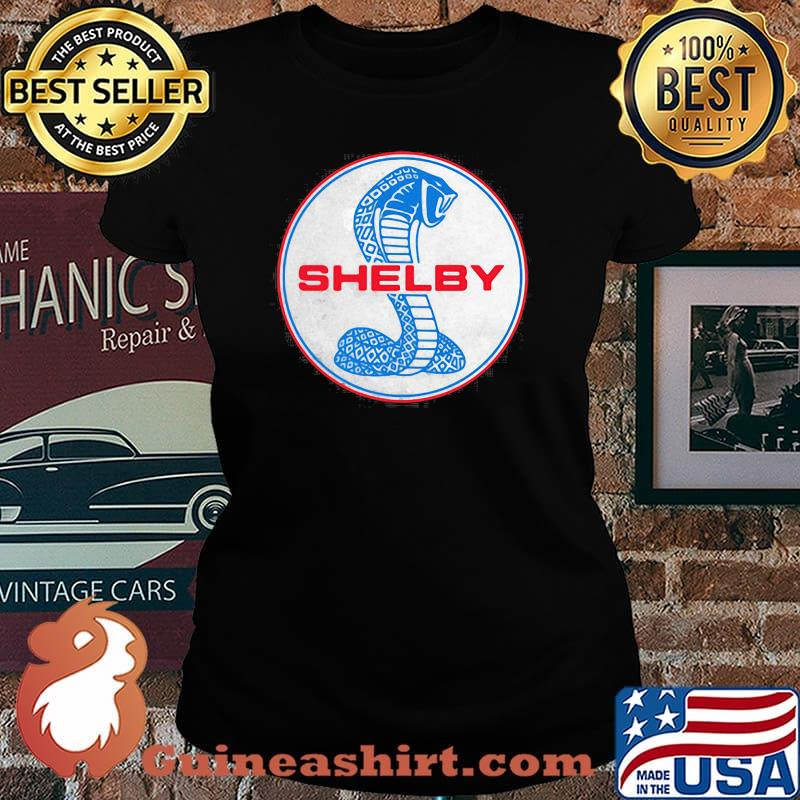 Shelby Blue And Red Logo Shirt Laides tee