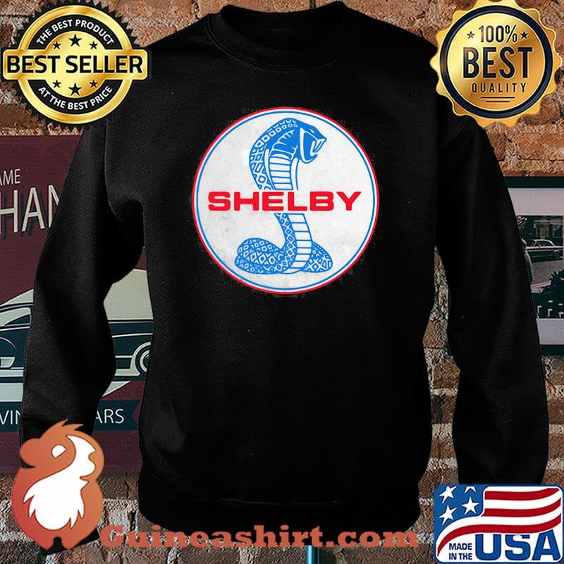 Shelby Blue And Red Logo Shirt Sweater