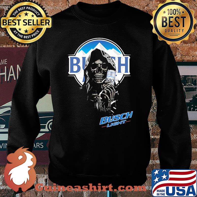 Skull Holding Busch Light Logo Shirt Sweater