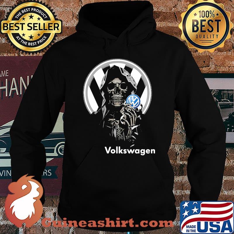 Skull Holding Volkswagen Logo Shirt Hoodie