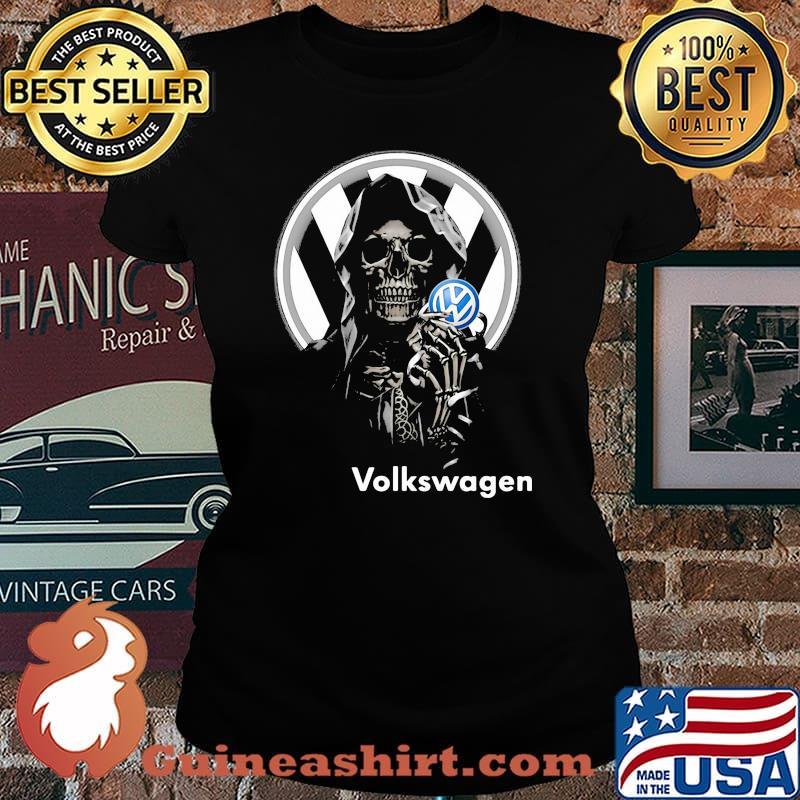 Skull Holding Volkswagen Logo Shirt Laides tee