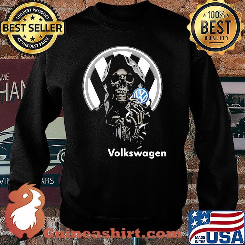 Skull Holding Volkswagen Logo Shirt Sweater