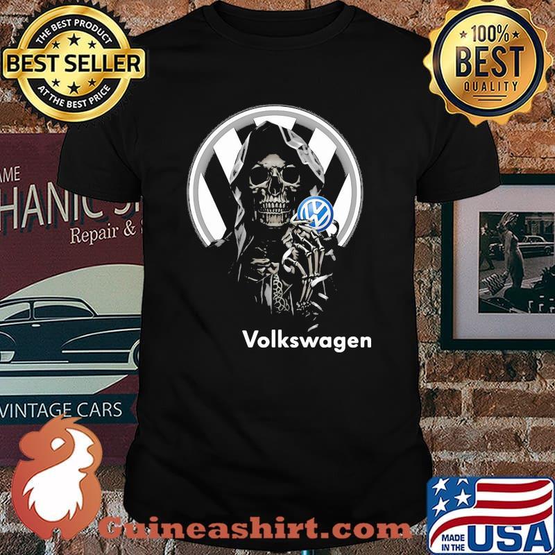 Skull Holding Volkswagen Logo Shirt