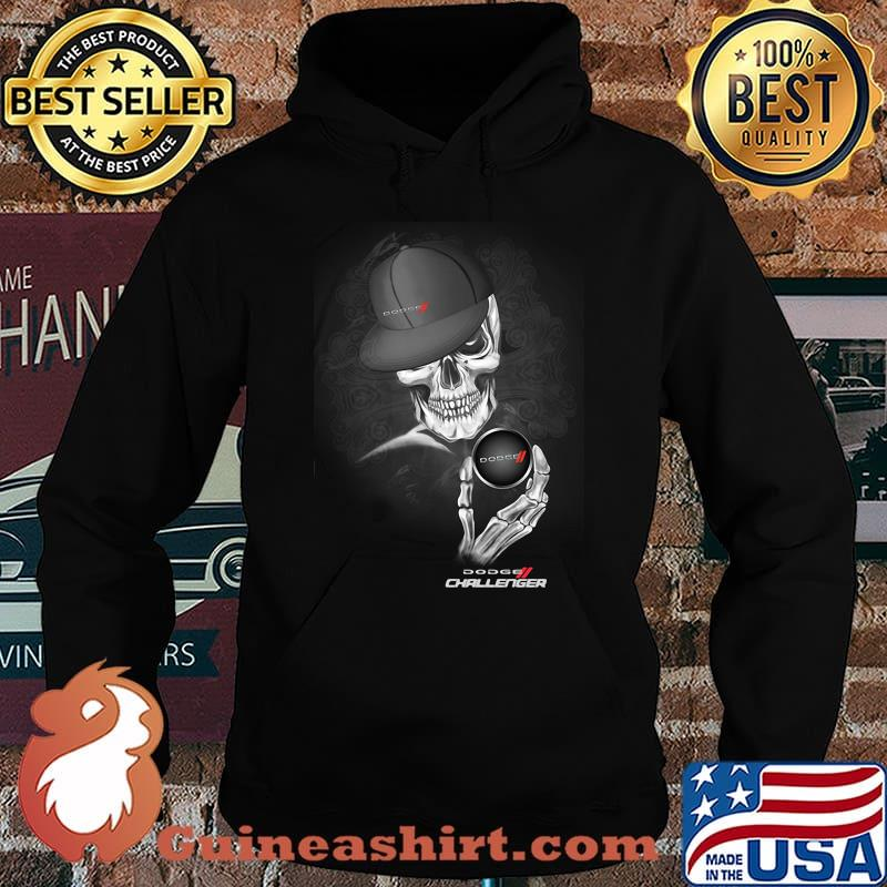 Skull With Dodge Challenger 2 Logo Shirt Hoodie