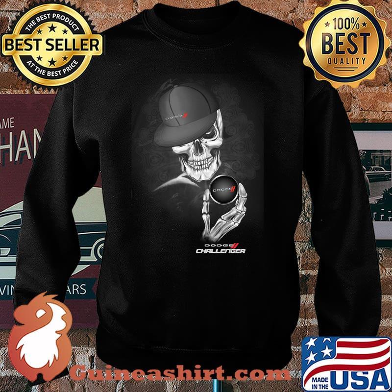 Skull With Dodge Challenger 2 Logo Shirt Sweater