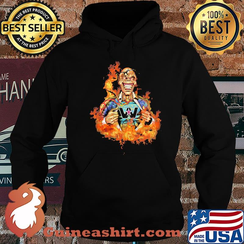 Skull Fire With Western Star Trucks Logo Shirt Hoodie