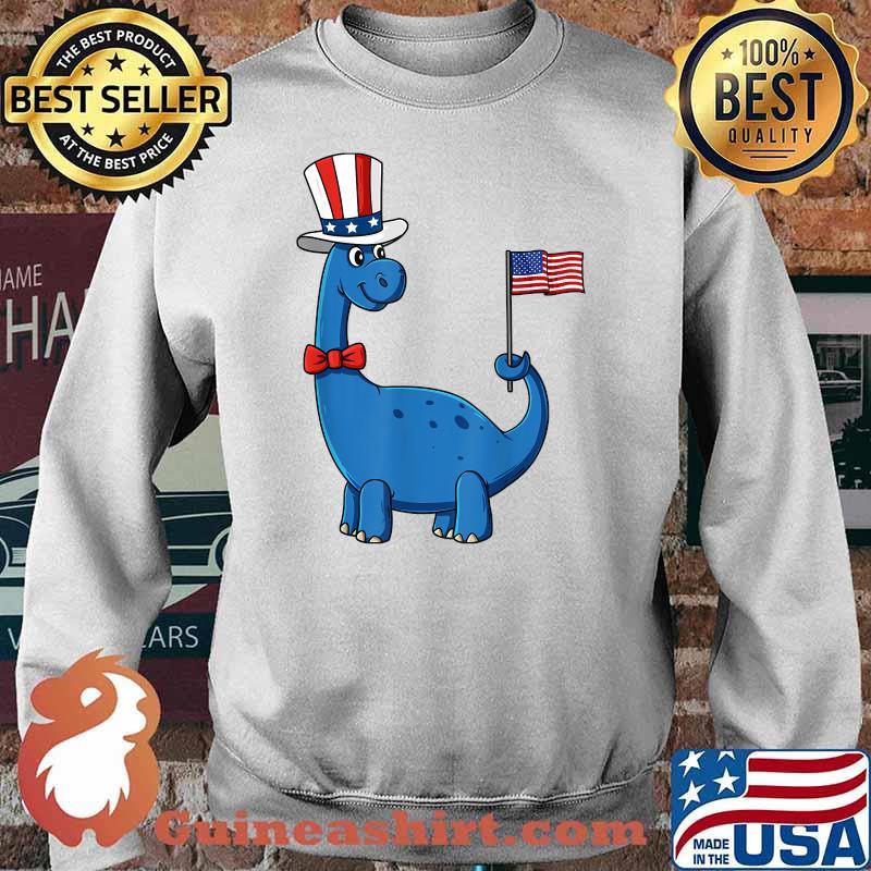 T Rex American Flag 4th Of July Funny Dinosaur Uncel Sam American Flag Shirt Sweater