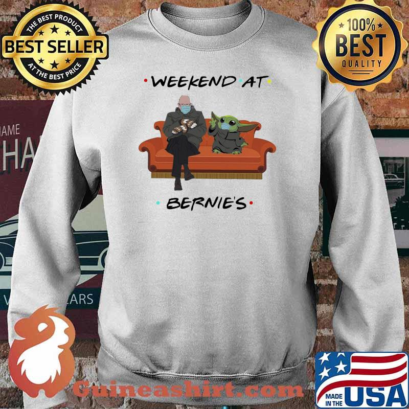 Weekend At Bernies Old Man And Baby Yoda Wear Mask Shirt Sweater