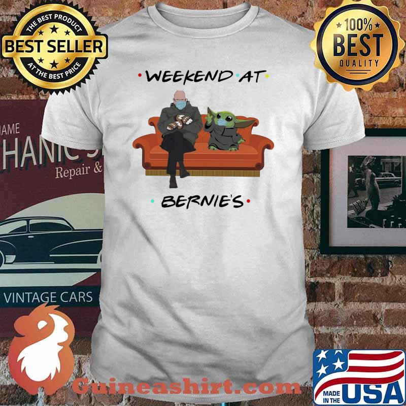 Weekend At Bernies Old Man And Baby Yoda Wear Mask Shirt