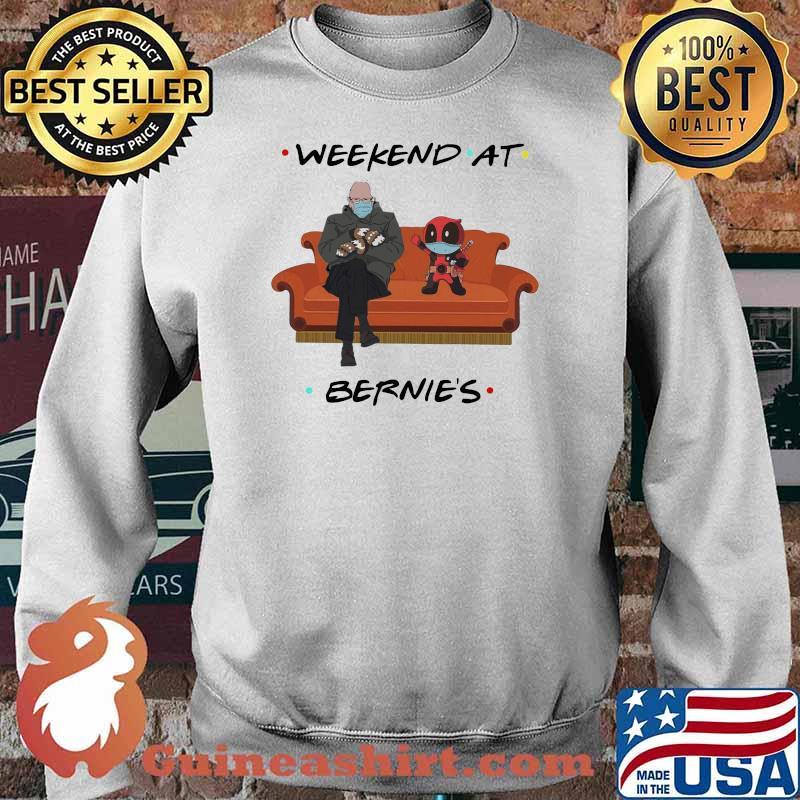 Weekend At Bernies Old Man And Deadpool Wear Mask Shirt Sweater