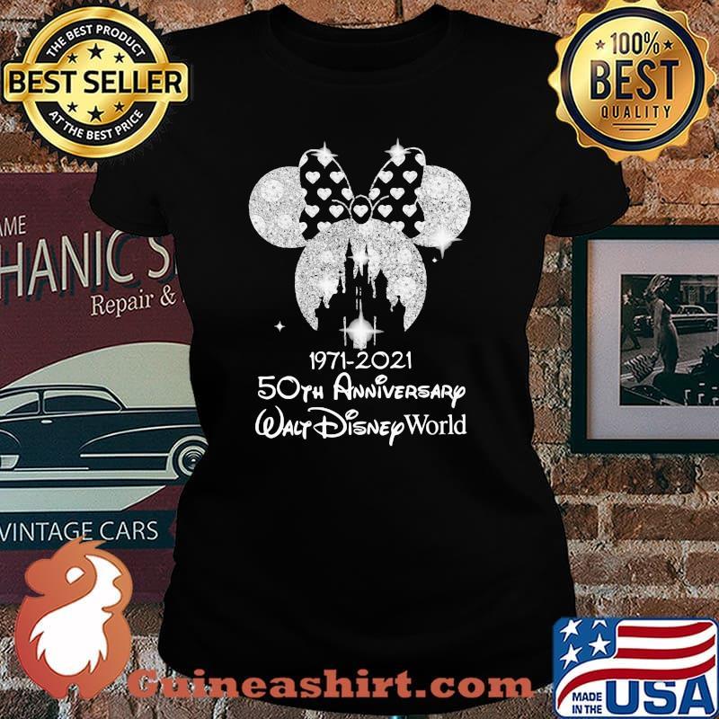 1971 2021 50th Anniversary Walt Disney World Minnie Shirt Laides tee