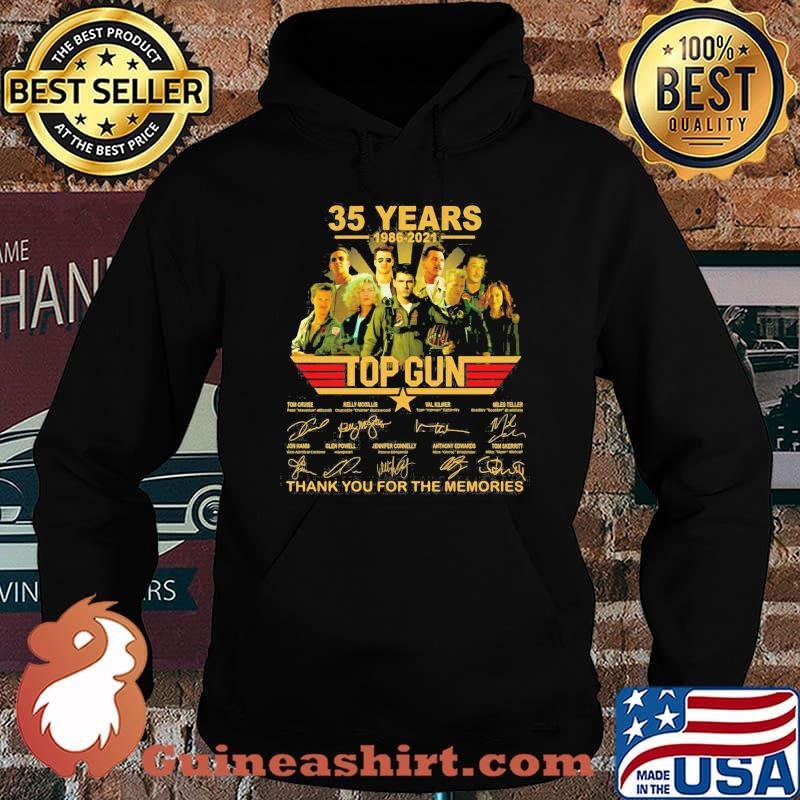 35 Years 1986 2021 Top Gun Thank You For The Memories Signature Shirt Hoodie