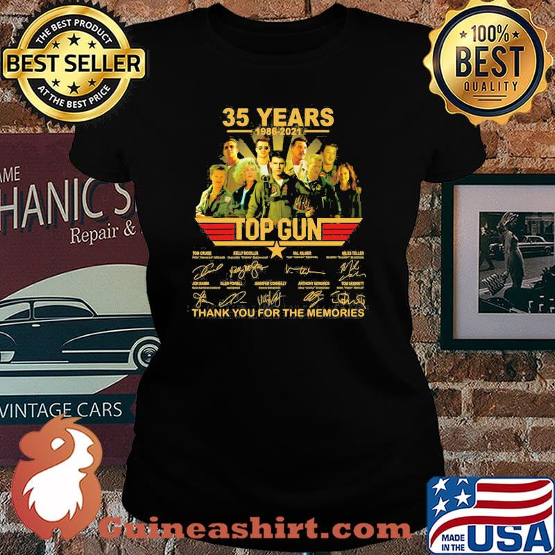 35 Years 1986 2021 Top Gun Thank You For The Memories Signature Shirt Laides tee
