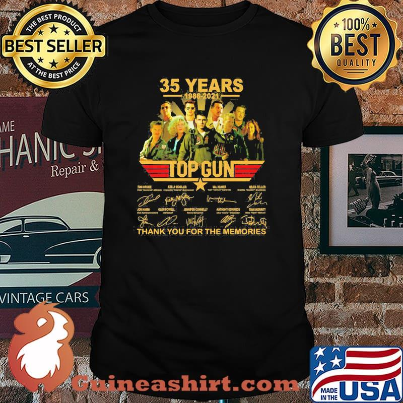 35 Years 1986 2021 Top Gun Thank You For The Memories Signature Shirt