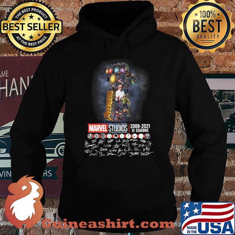 Avengers Marvel Studio 2008 2021 31 Seasons Signature Shirt Hoodie