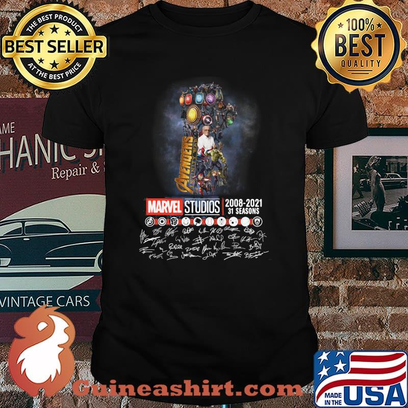 Avengers Marvel Studio 2008 2021 31 Seasons Signature Shirt