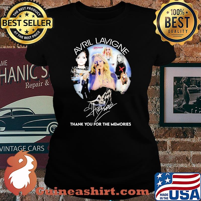 Avril Lavigne Thank You For The Memories Signature Shirt Laides tee