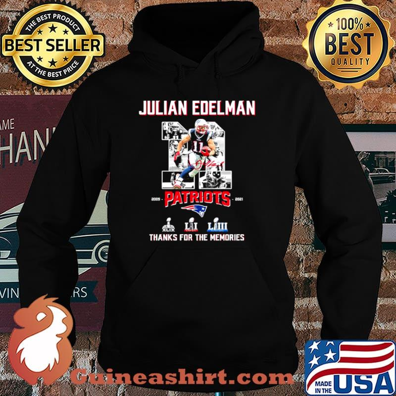 11 Julian Edelman Patriots Thanks For The Memories Shirt Hoodie