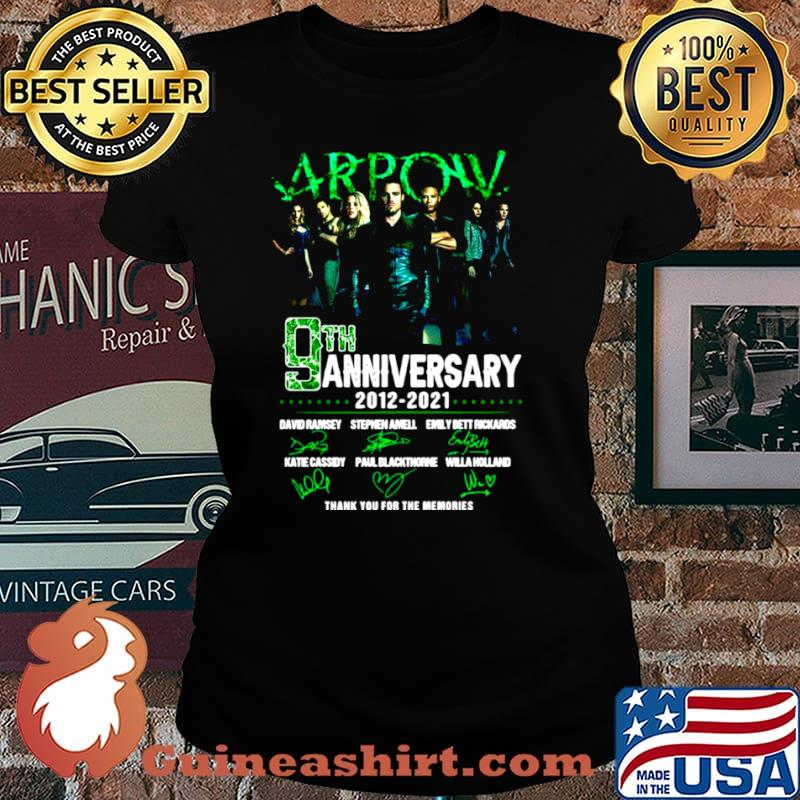 Arpow 9th anniversary 2012 2021 thank you for the memories signatures Laides tee