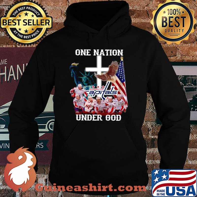 One nation under god Washington Capitals signatures Hoodie