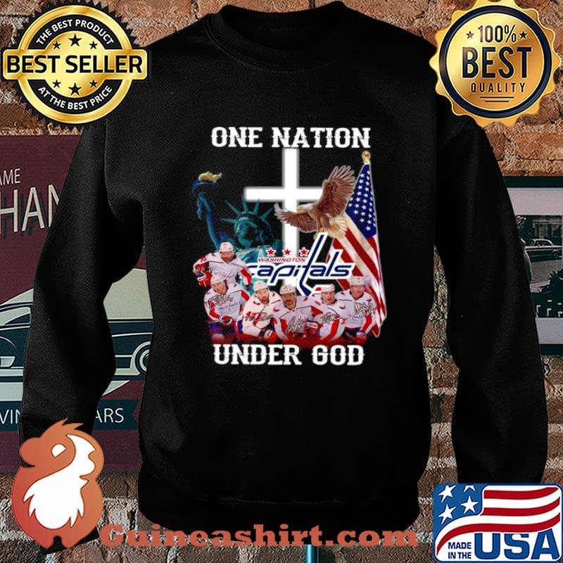 One nation under god Washington Capitals signatures Sweater