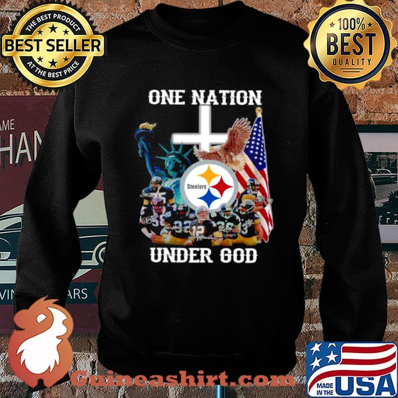 Pittsburgh Steelers one nation under god signatures Sweater