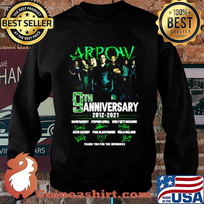 Arpow 9th anniversary 2012 2021 thank you for the memories signatures Sweater
