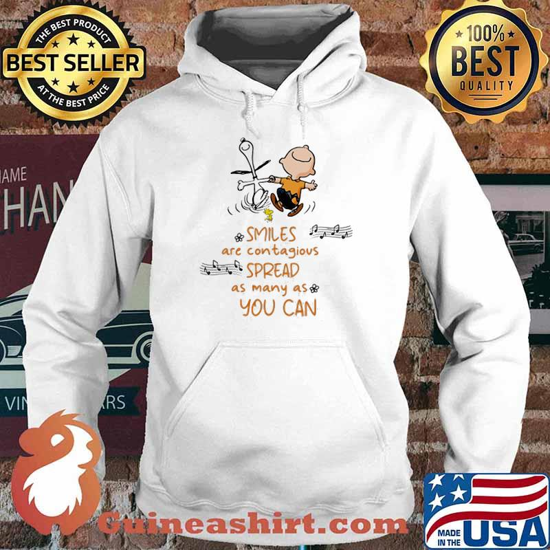 Smiles Are Contagious Spread As Many As You Can Snoopy And Charlie Shirt Hoodie