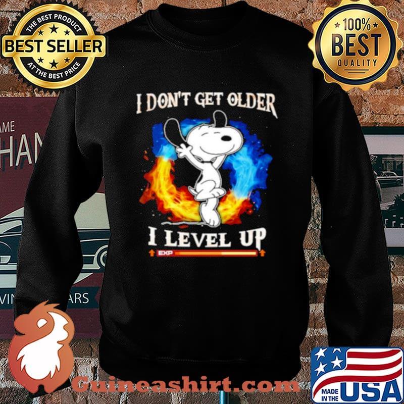 Snoopy I dont get older I level up Sweater