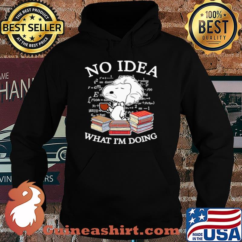 Snoopy Math No Idea what Im doing Hoodie