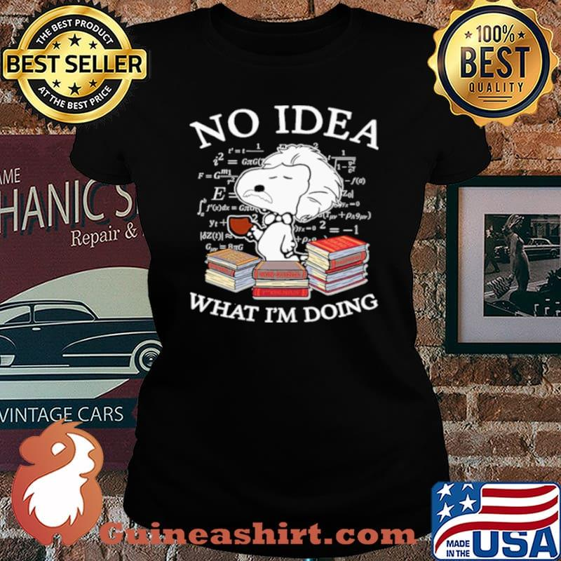 Snoopy Math No Idea what Im doing Laides tee