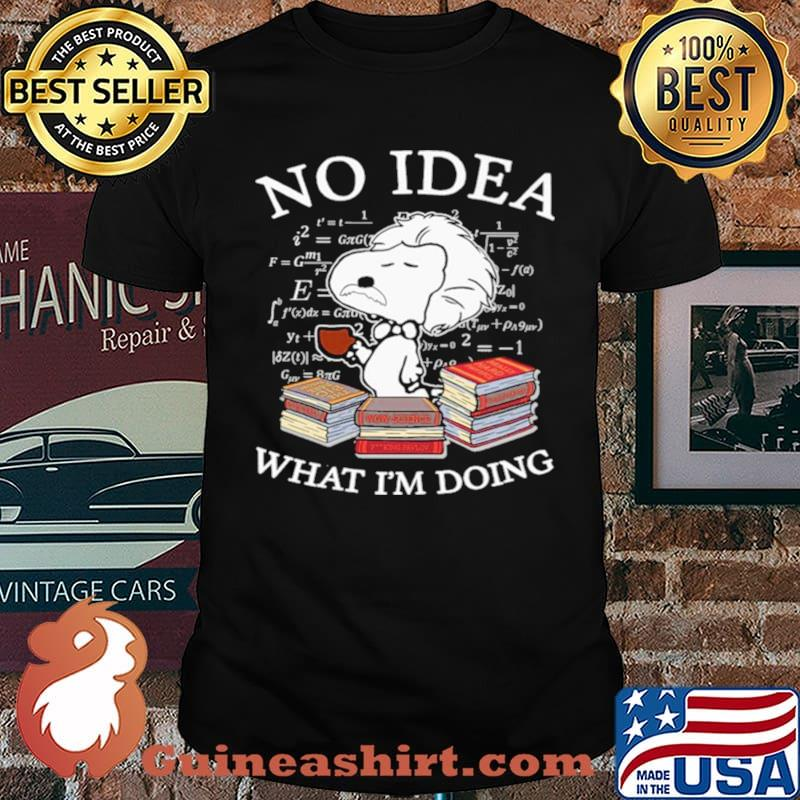 Snoopy Math No Idea what Im doing shirt
