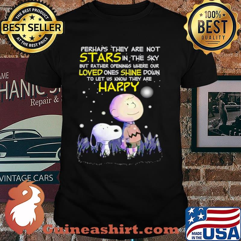 Snoopy perhaps they are not stars in the sky but rather openings where our loved shirt