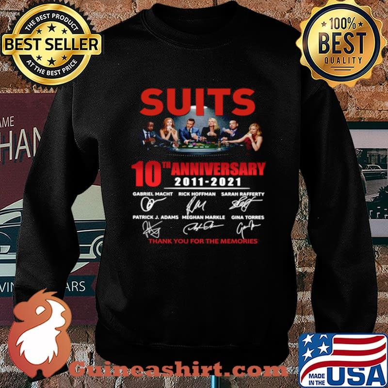 Suits 10th anniversary 2011 2021 thank you for the memories signatures Sweater