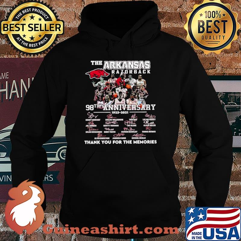 The Arkansas Razorback 98th Anniversary 1923 2021 Thank You For The Memories Signature Shirt Hoodie