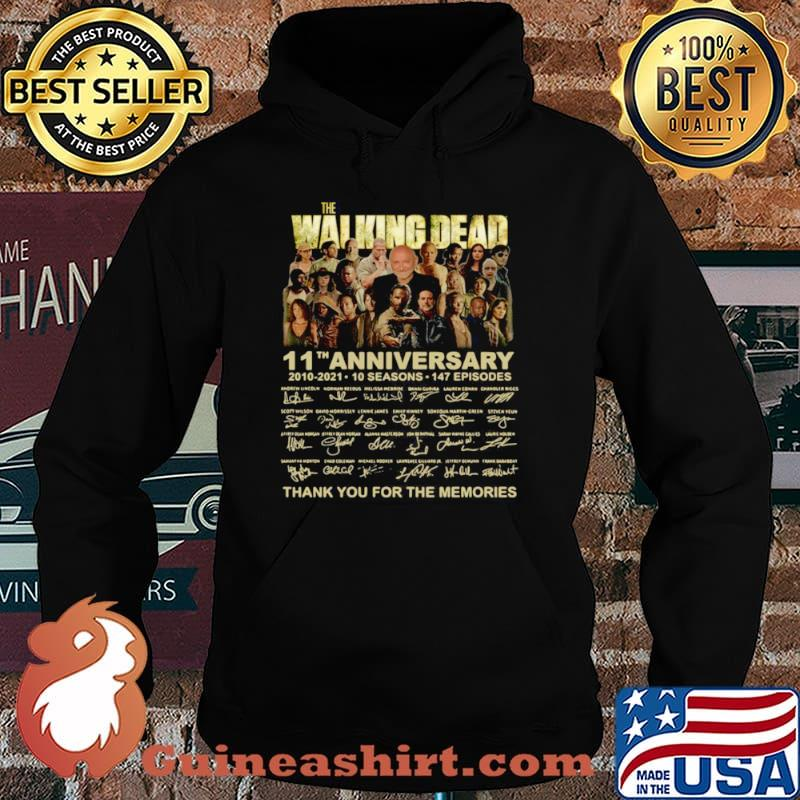 The Walking Dead 11th anniversary 2010 2021 thank you signatures Hoodie