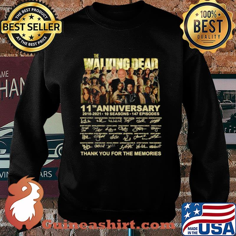 The Walking Dead 11th anniversary 2010 2021 thank you signatures Sweater