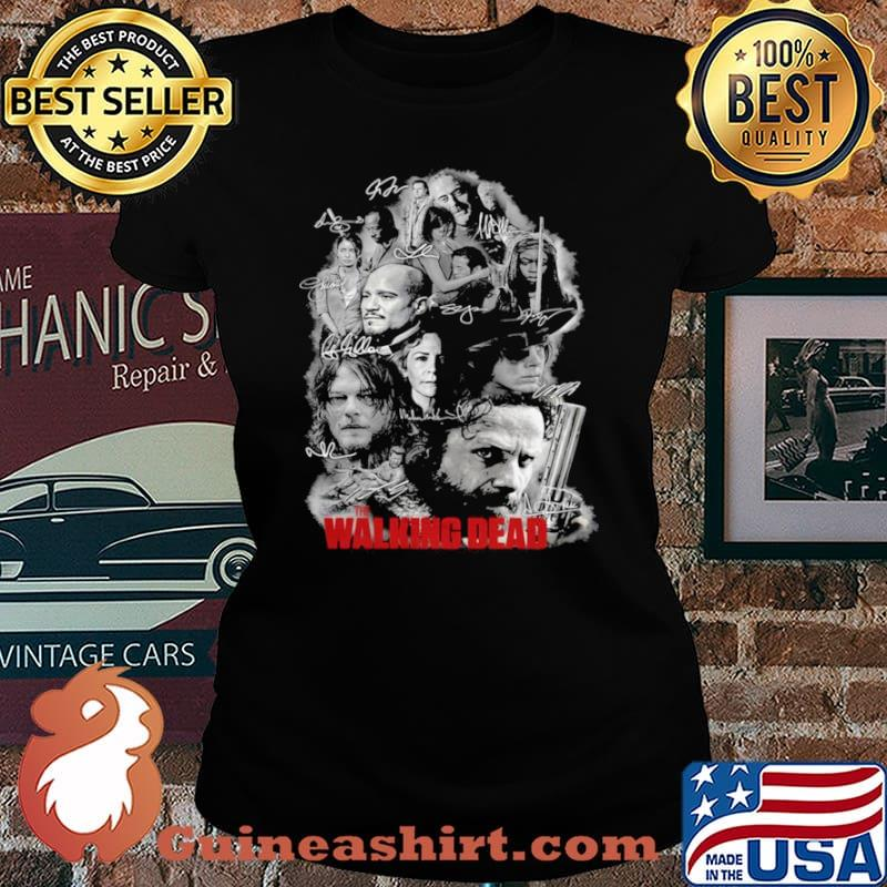 The Walking Dead Full Characters Signatures Laides tee