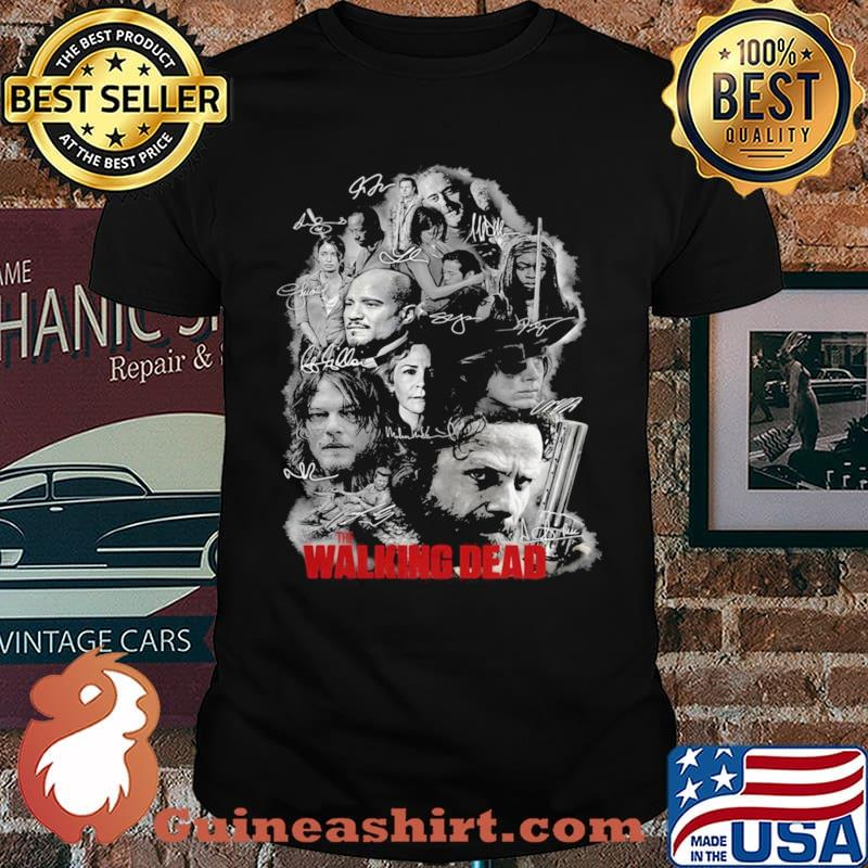 The Walking Dead Full Characters Signatures shirt