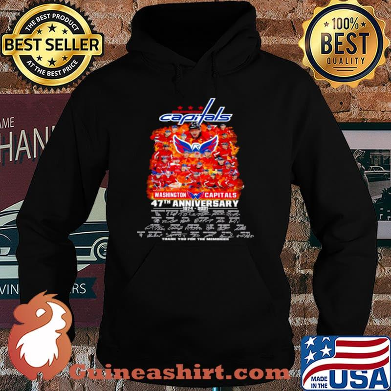 Washington capitals 47th anniversary 1974 2021 thank you for the memories Hoodie