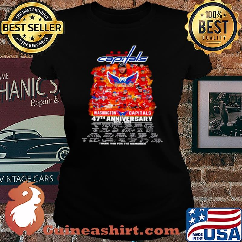 Washington capitals 47th anniversary 1974 2021 thank you for the memories Laides tee