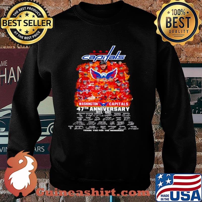Washington capitals 47th anniversary 1974 2021 thank you for the memories Sweater