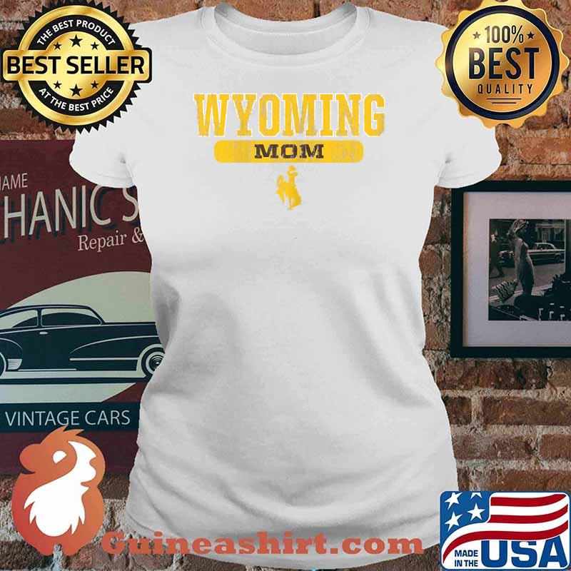 Wyoming Cowboys Apparel Mom Block Pill Shirt Ladies tee