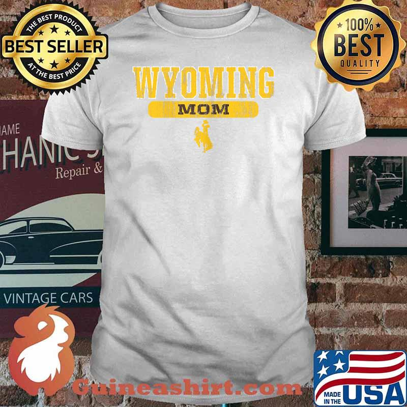Wyoming Cowboys Apparel Mom Block Pill Shirt