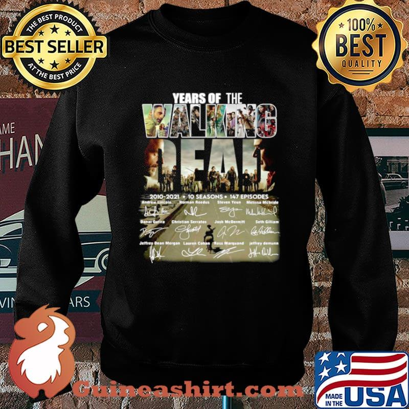 Years of the Walking Dead 2010 2021 10 seasons signatures Sweater